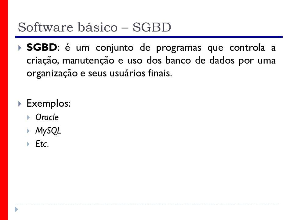 Software básico – SGBD