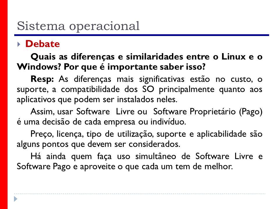Sistema operacional Debate