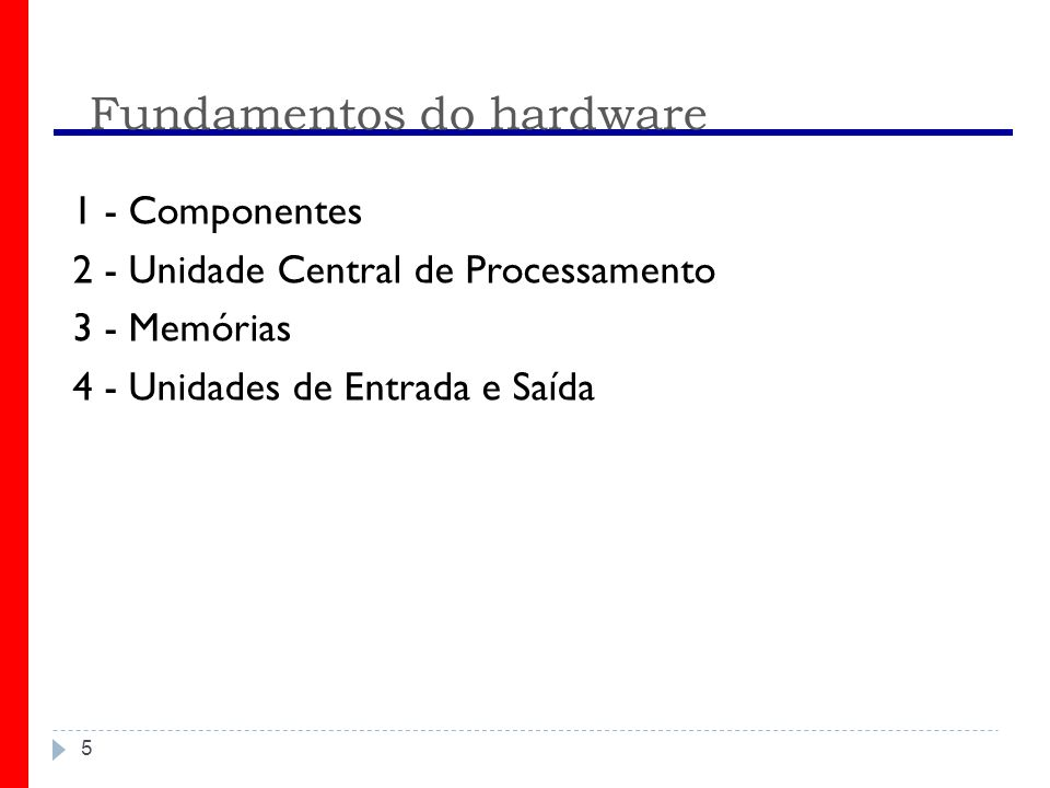 Fundamentos do hardware