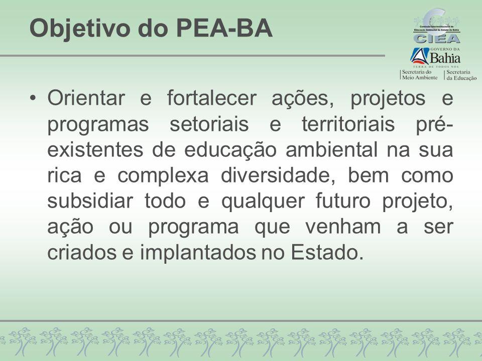 Objetivo do PEA-BA