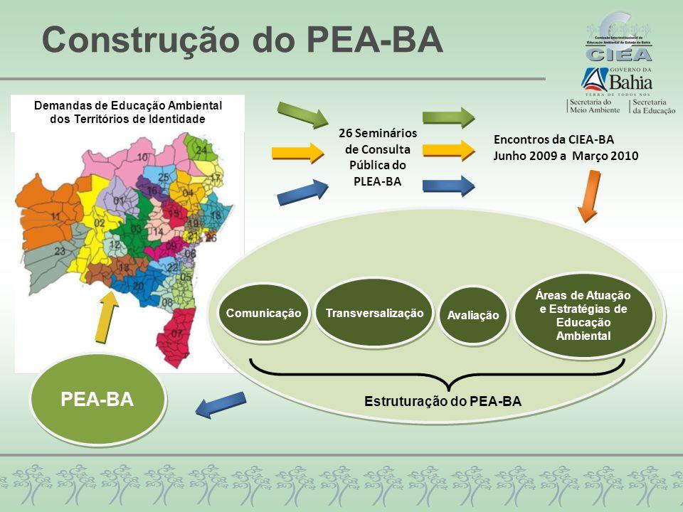 Construção do PEA-BA PEA-BA 26 Seminários