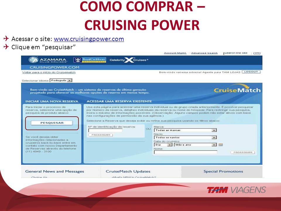 COMO COMPRAR – CRUISING POWER