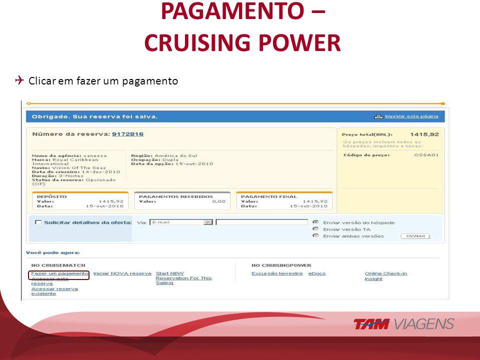 PAGAMENTO – CRUISING POWER