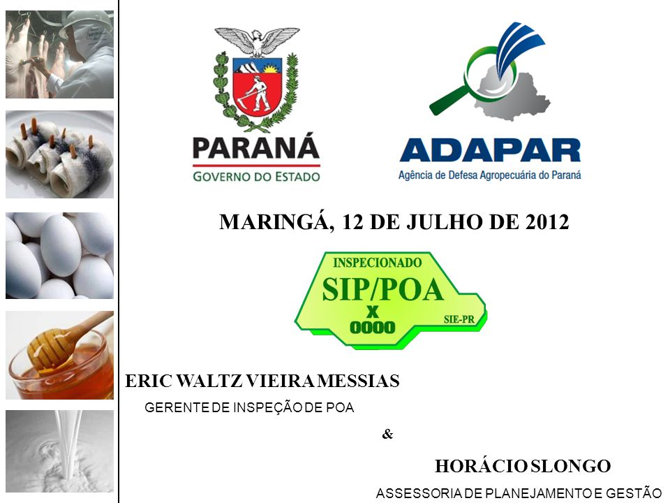 MARINGÁ, 12 DE JULHO DE 2012 ERIC WALTZ VIEIRA MESSIAS &