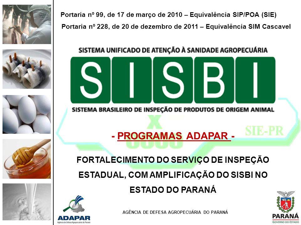Portaria nº 99, de 17 de março de 2010 – Equivalência SIP/POA (SIE)