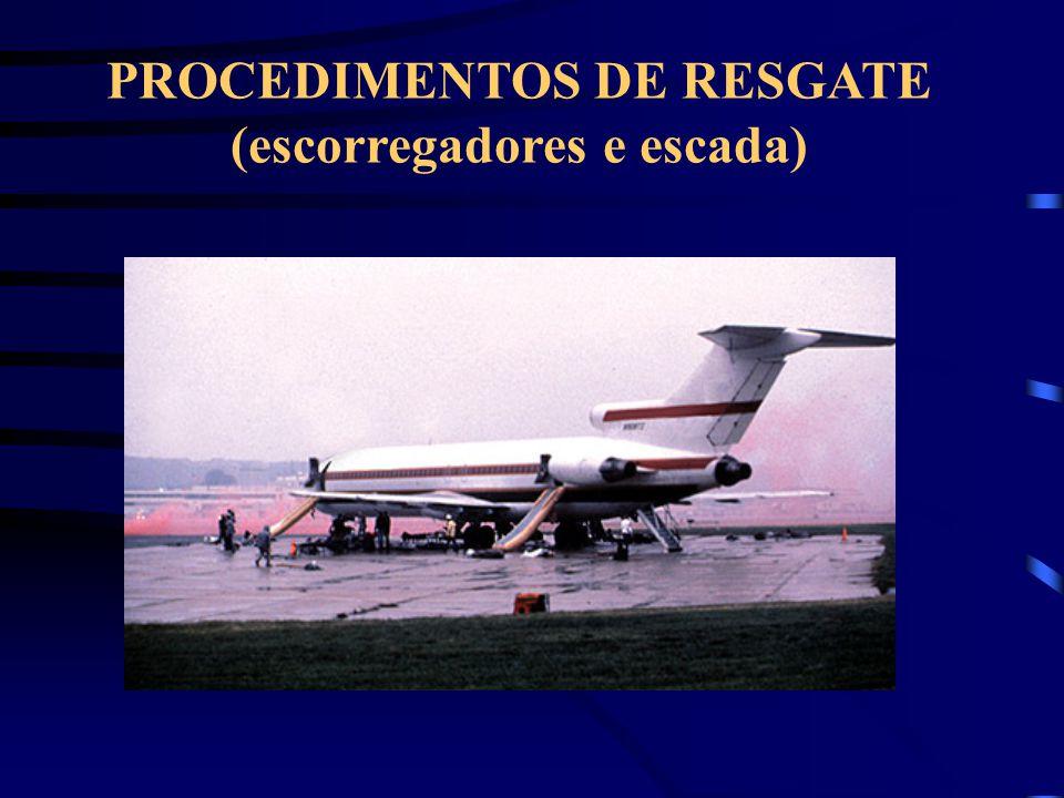 PROCEDIMENTOS DE RESGATE (escorregadores e escada)