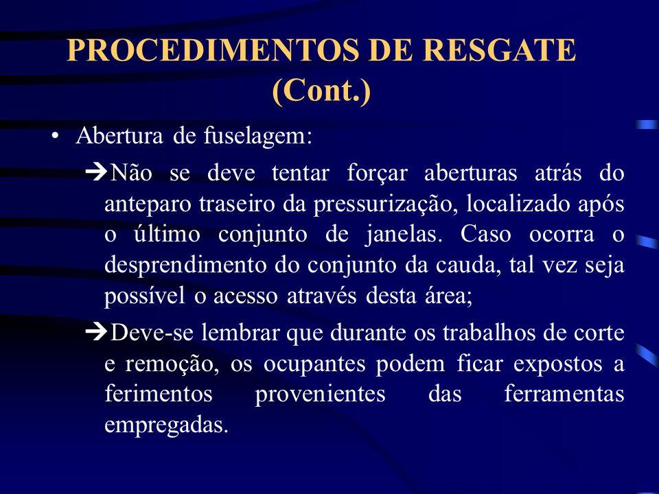 PROCEDIMENTOS DE RESGATE (Cont.)