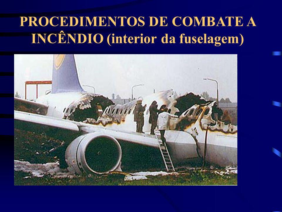 PROCEDIMENTOS DE COMBATE A INCÊNDIO (interior da fuselagem)