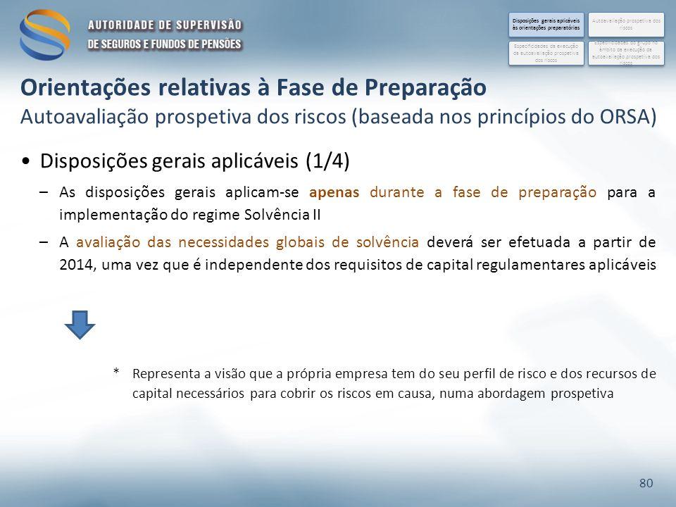 Disposições gerais aplicáveis às orientações preparatórias