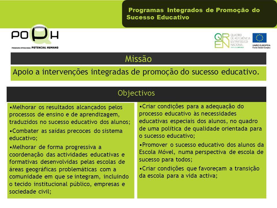 Programas Integrados de Promoção do Sucesso Educativo