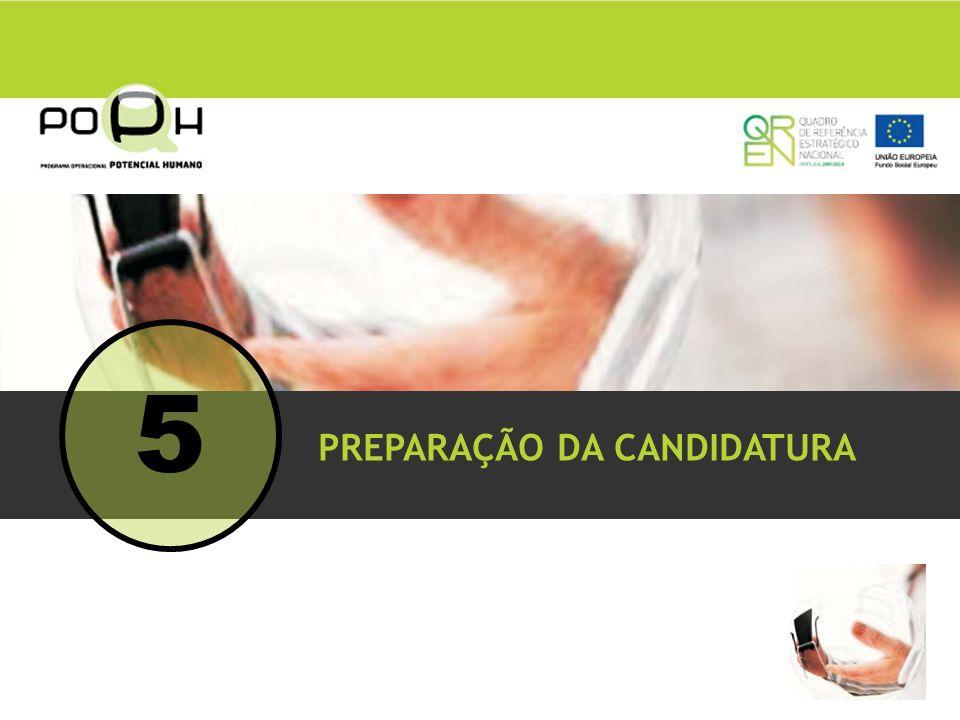 5 PREPARAÇÃO DA CANDIDATURA