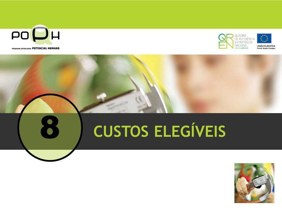 8 CUSTOS ELEGÍVEIS