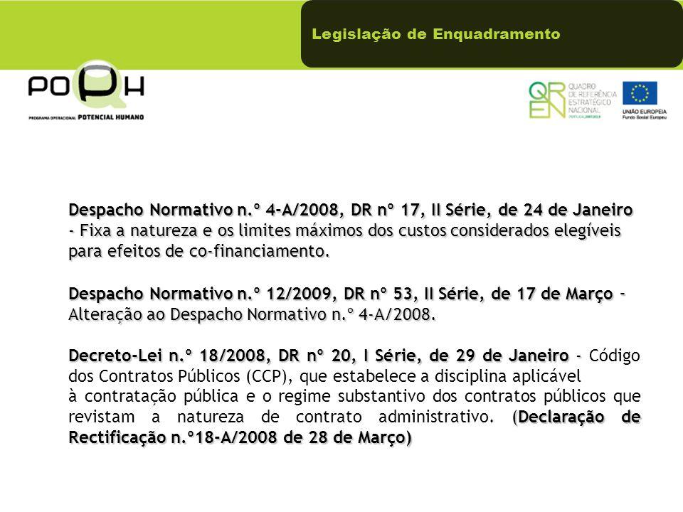 Legislação de Enquadramento