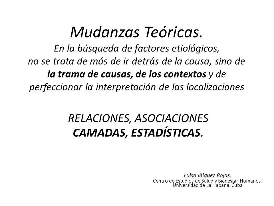 RELACIONES, ASOCIACIONES CAMADAS, ESTADÍSTICAS.