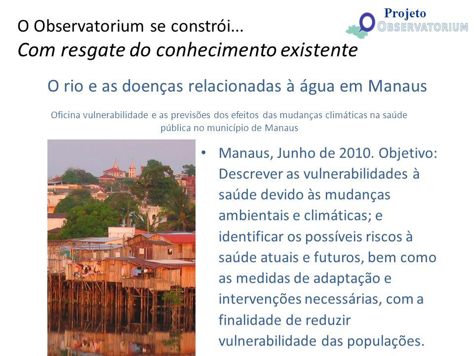 O rio e as doenças relacionadas à água em Manaus