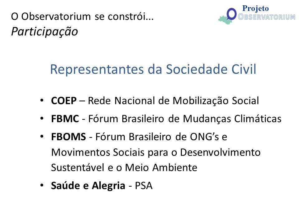 Representantes da Sociedade Civil
