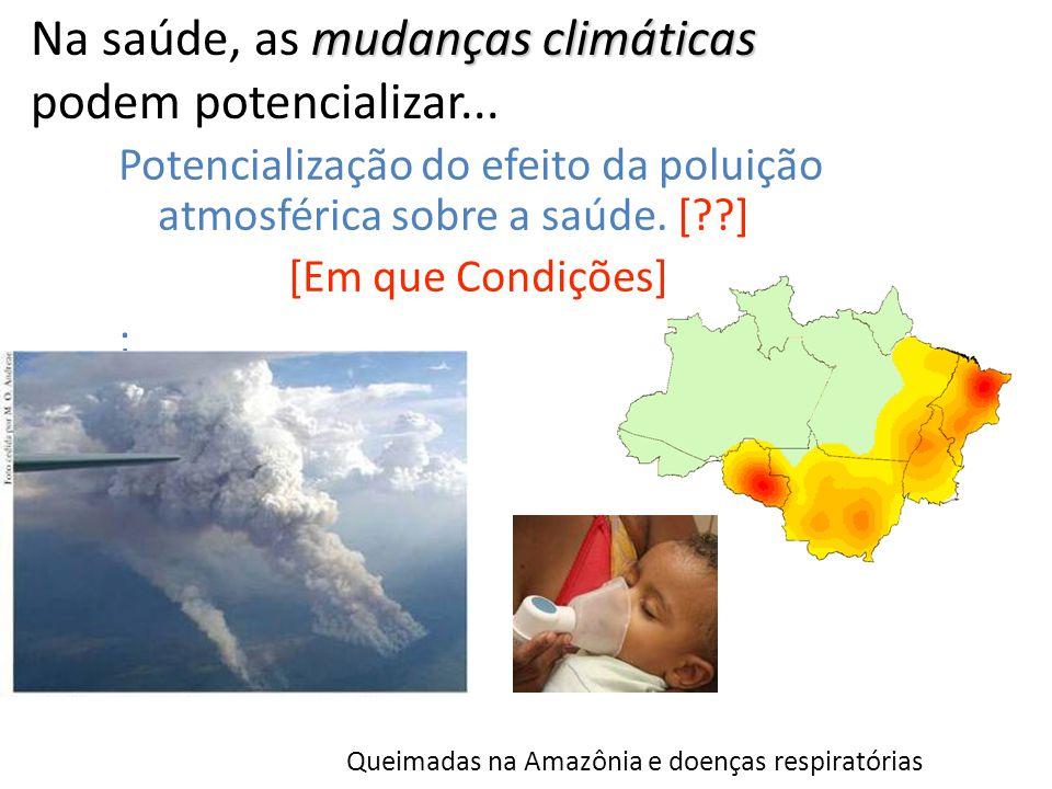 Na saúde, as mudanças climáticas podem potencializar...