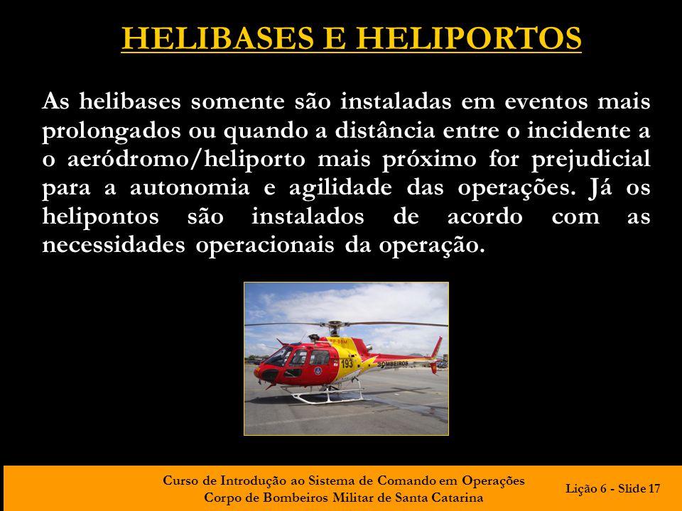 HELIBASES E HELIPORTOS