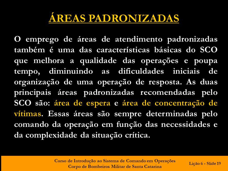 ÁREAS PADRONIZADAS