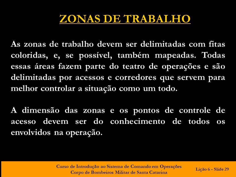 ZONAS DE TRABALHO