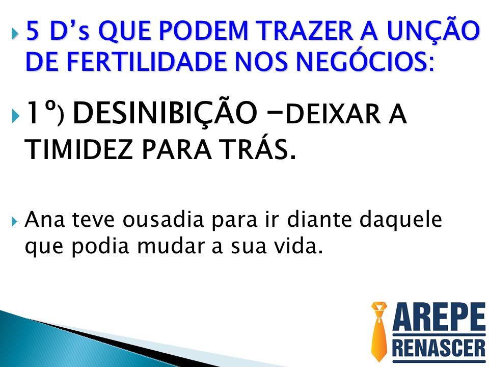 1º) DESINIBIÇÃO –DEIXAR A TIMIDEZ PARA TRÁS.