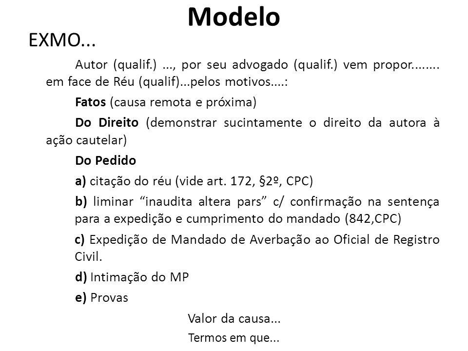 Modelo EXMO... Fatos (causa remota e próxima)