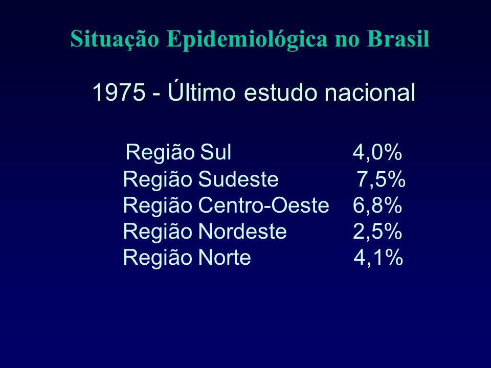 Situação Epidemiológica no Brasil