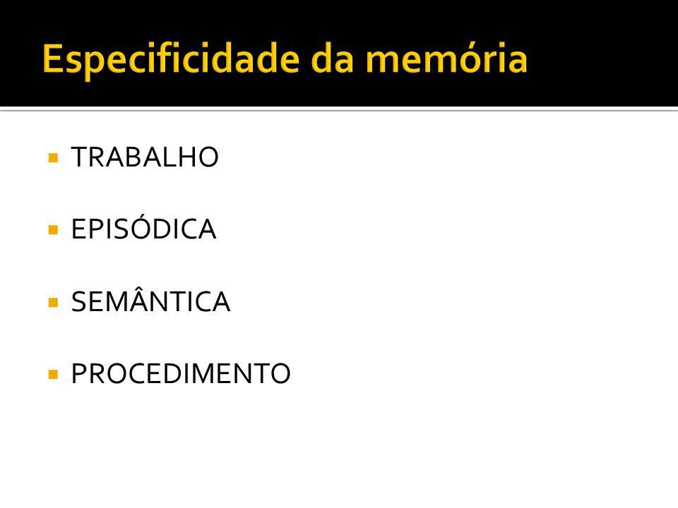 Especificidade da memória