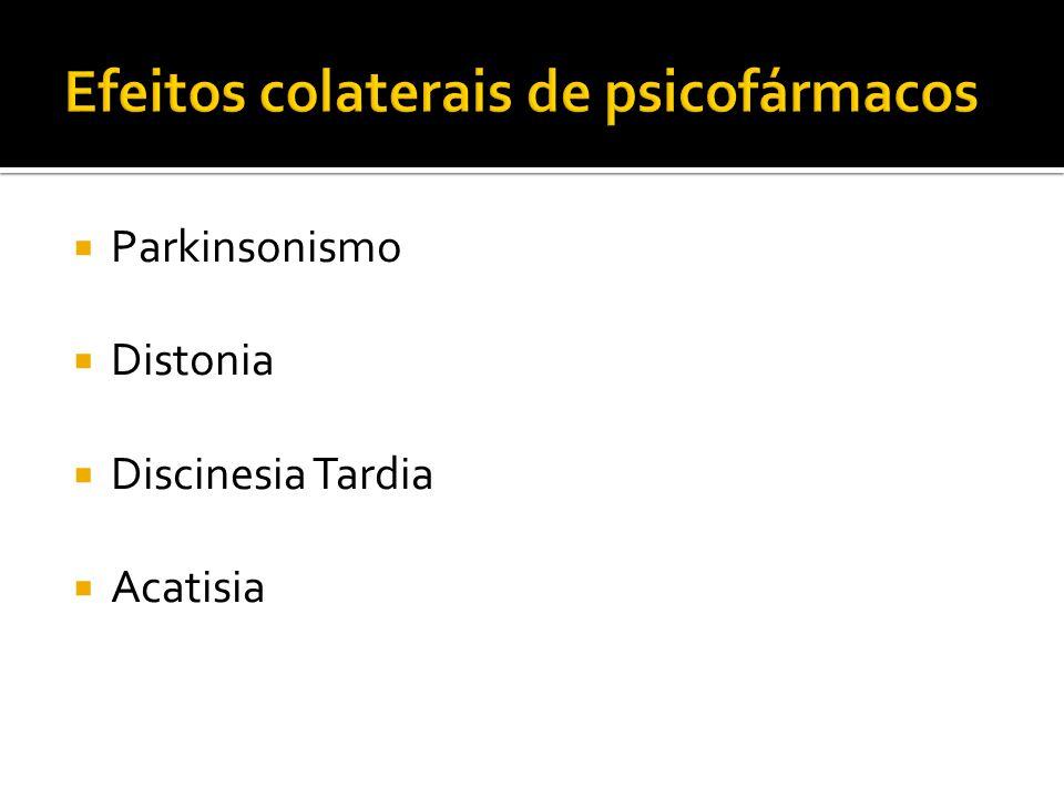 Efeitos colaterais de psicofármacos