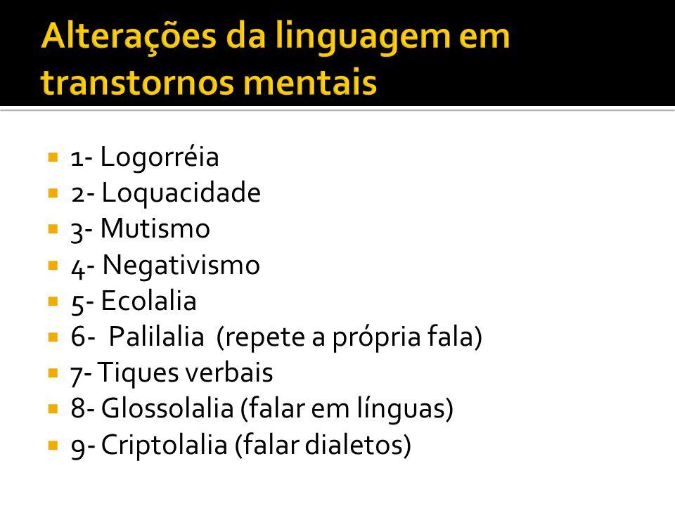 Alterações da linguagem em transtornos mentais