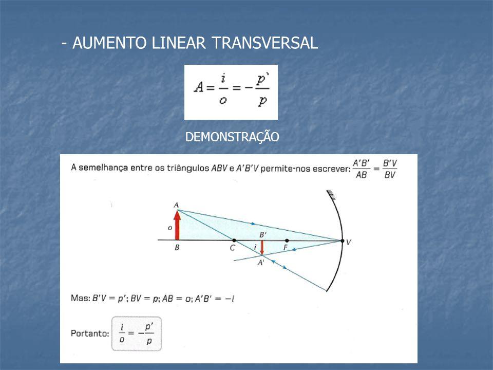 - AUMENTO LINEAR TRANSVERSAL