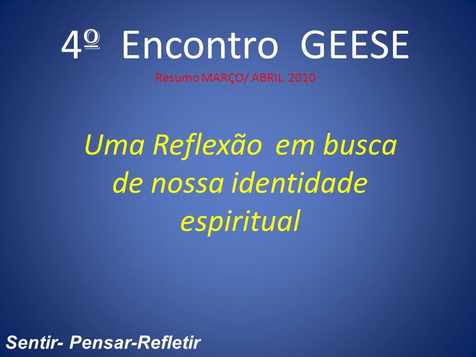 4º Encontro GEESE Resumo MARÇO/ ABRIL 2010