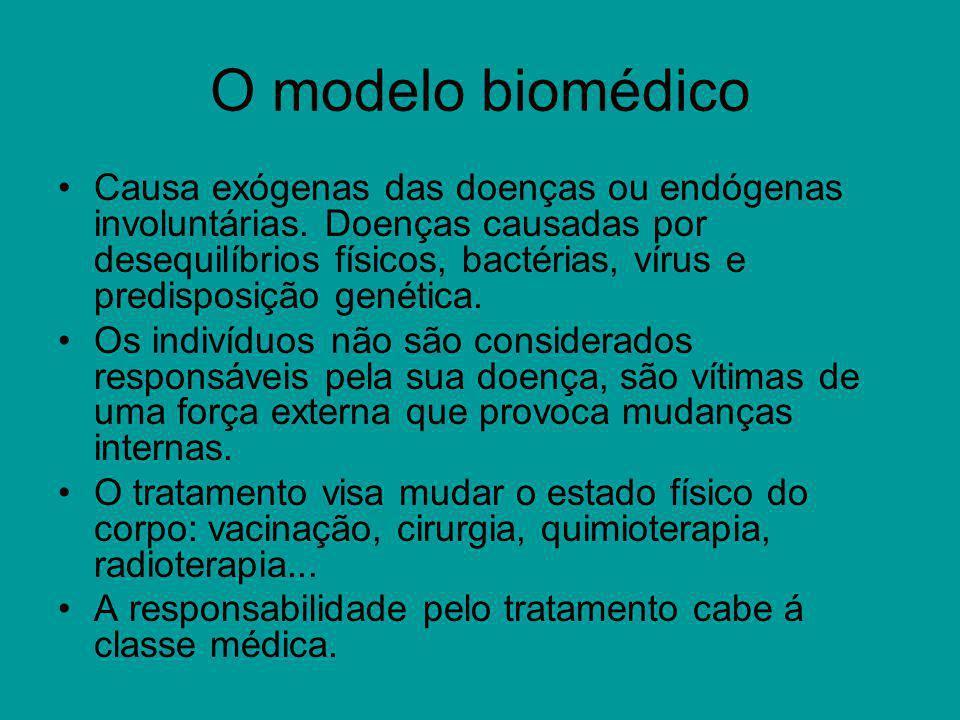 O modelo biomédico