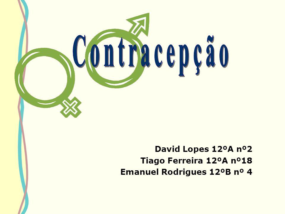 Contracepção David Lopes 12ºA nº2 Tiago Ferreira 12ºA nº18
