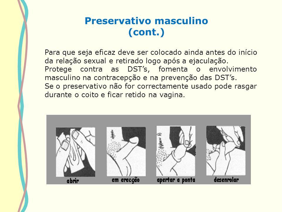 Preservativo masculino (cont.)