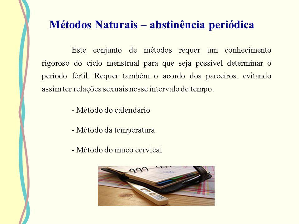 Métodos Naturais – abstinência periódica