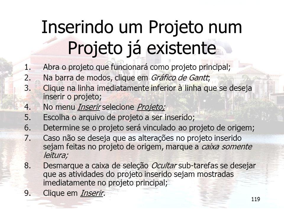 Inserindo um Projeto num Projeto já existente