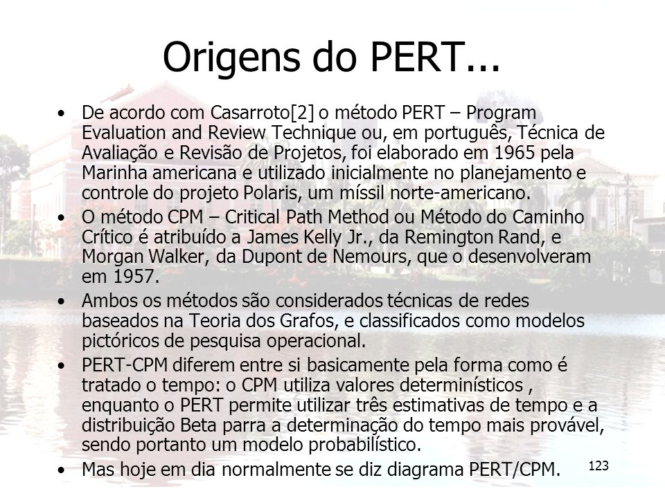Origens do PERT...