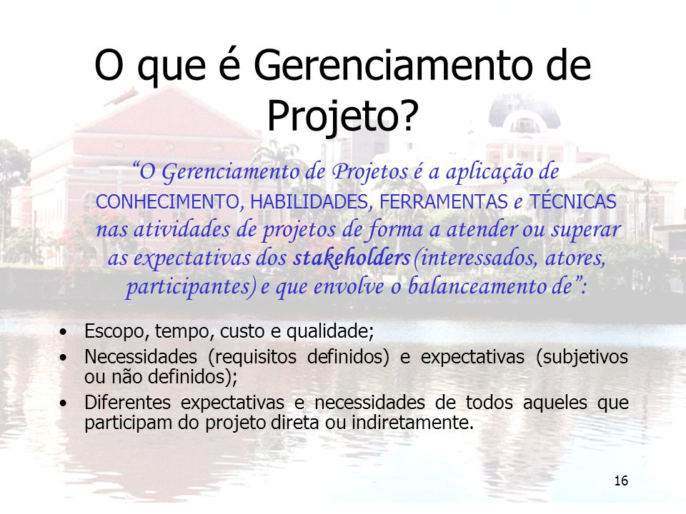 O que é Gerenciamento de Projeto