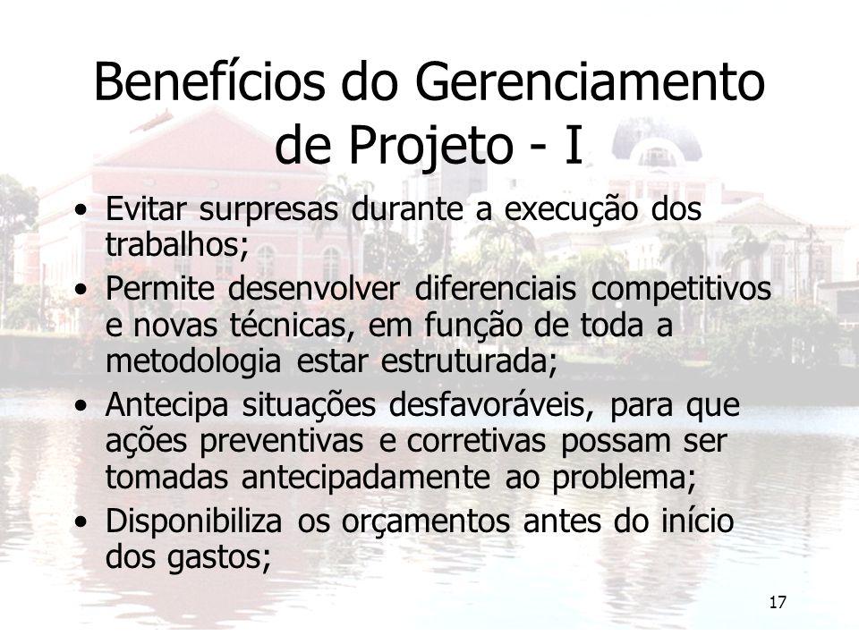 Benefícios do Gerenciamento de Projeto - I