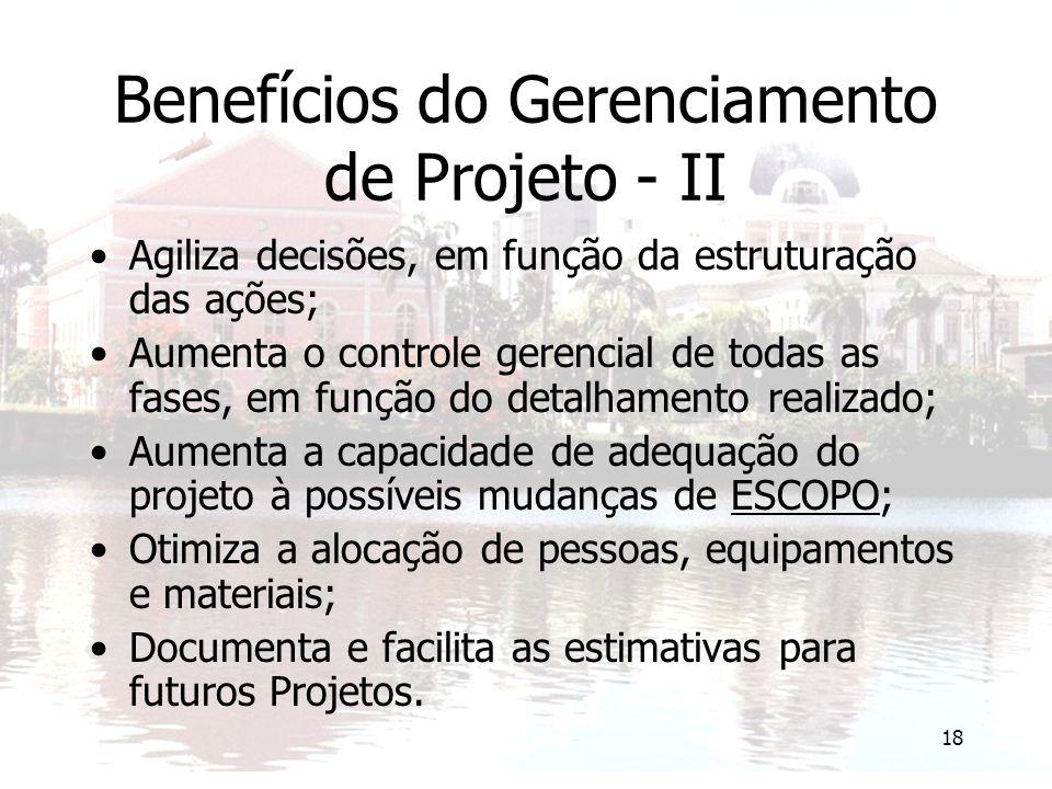 Benefícios do Gerenciamento de Projeto - II