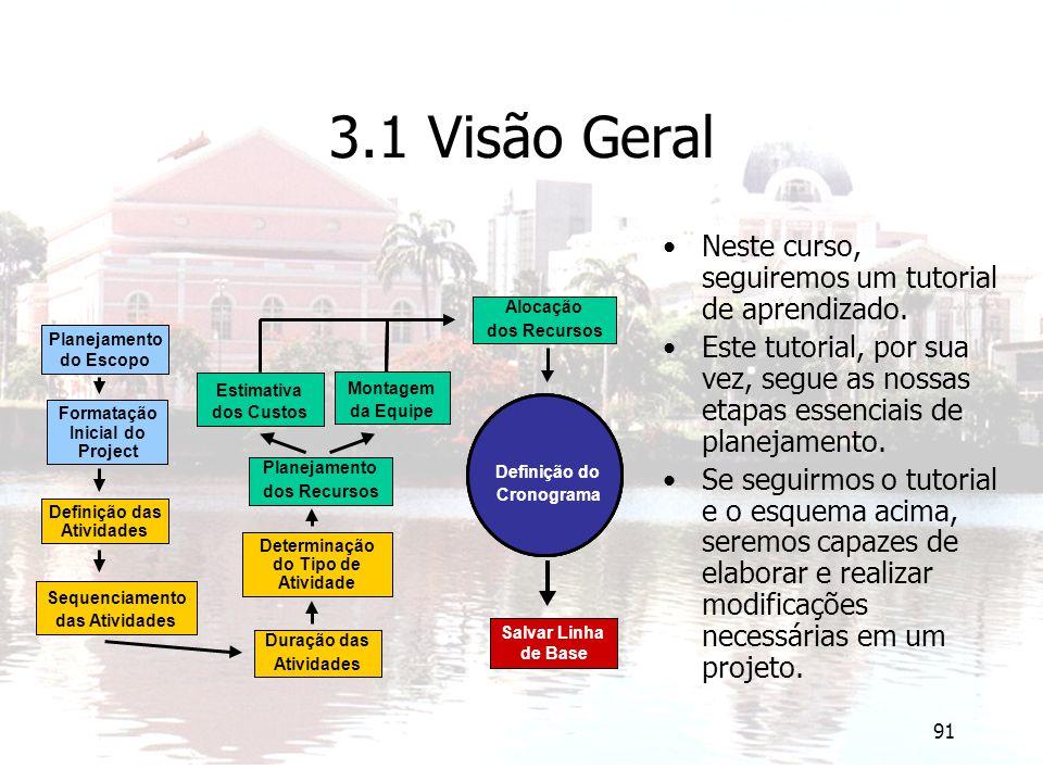 3.1 Visão Geral Neste curso, seguiremos um tutorial de aprendizado.