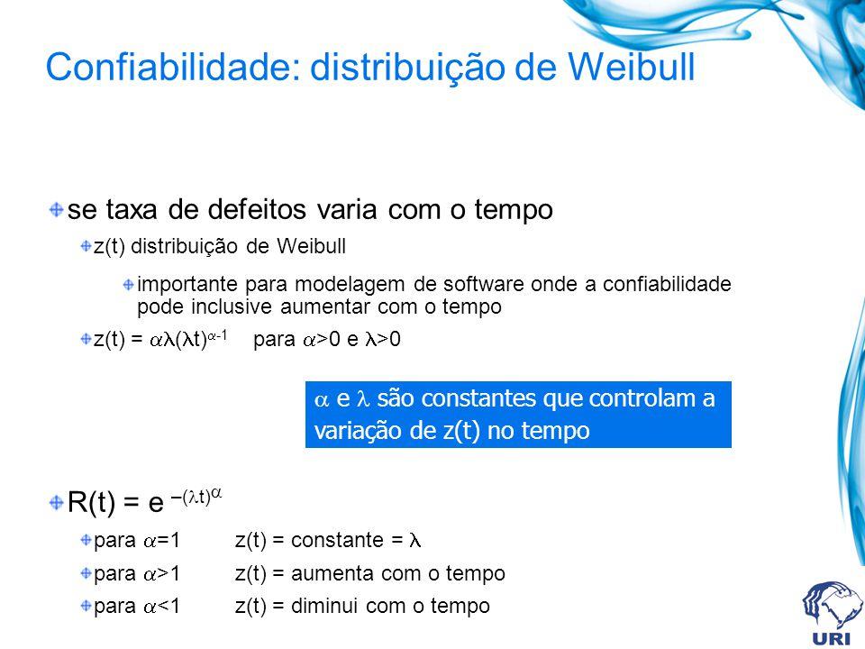 Confiabilidade: distribuição de Weibull
