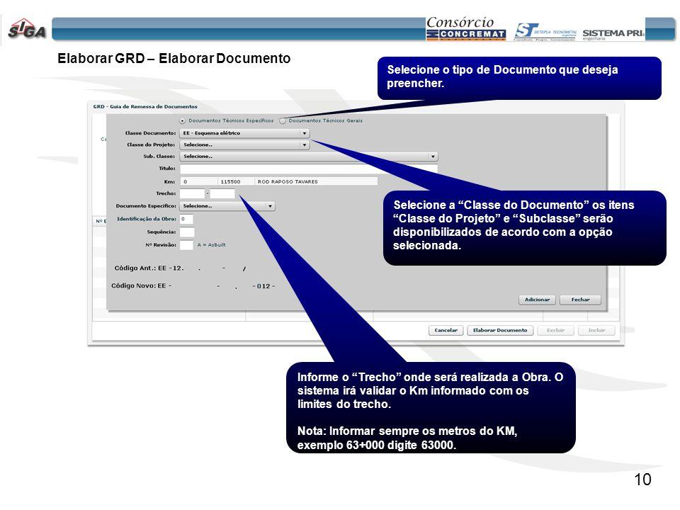 Elaborar GRD – Elaborar Documento