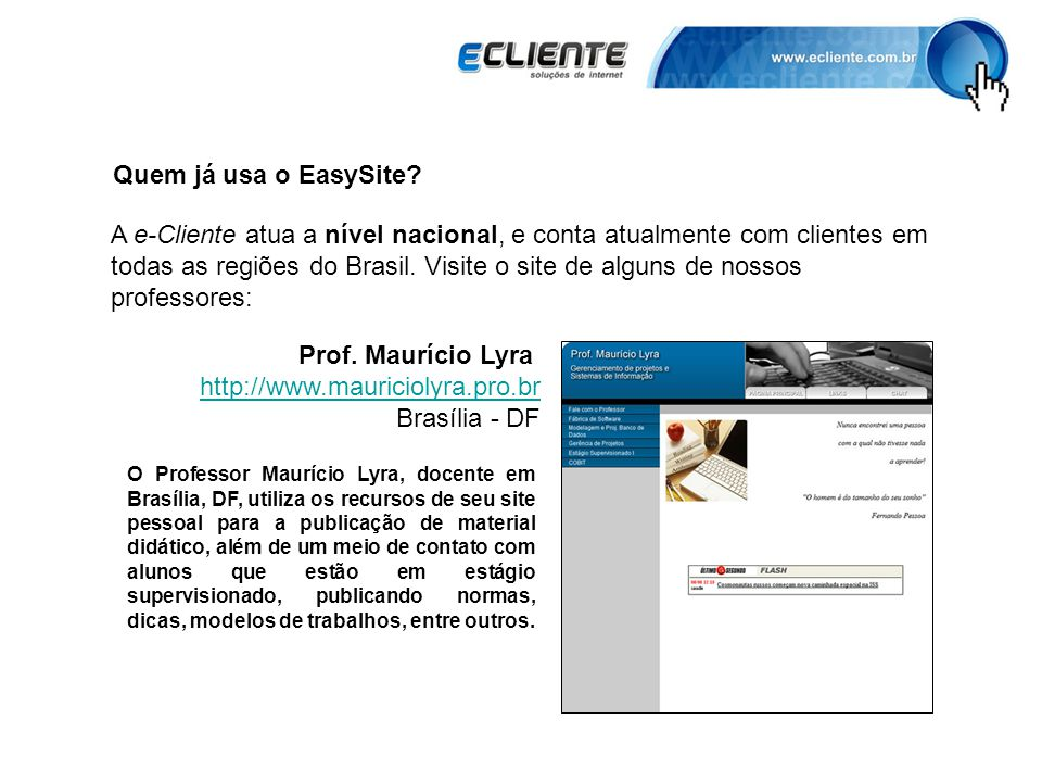 Quem já usa o EasySite