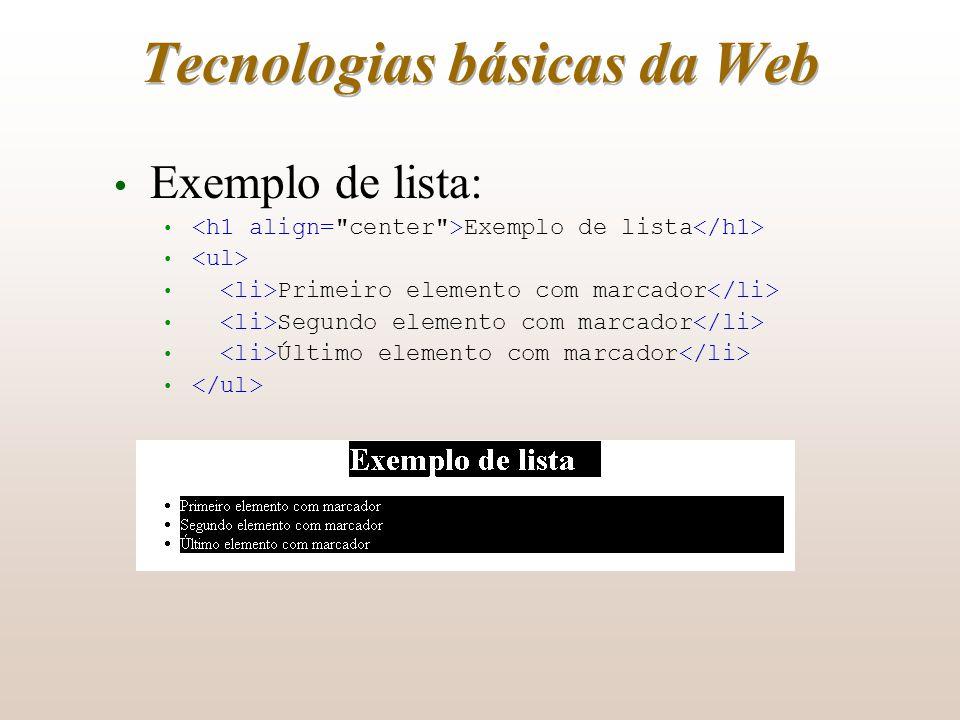 Tecnologias básicas da Web