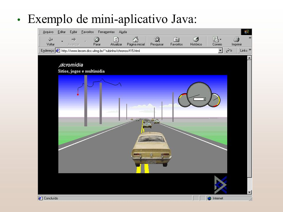 Exemplo de mini-aplicativo Java:
