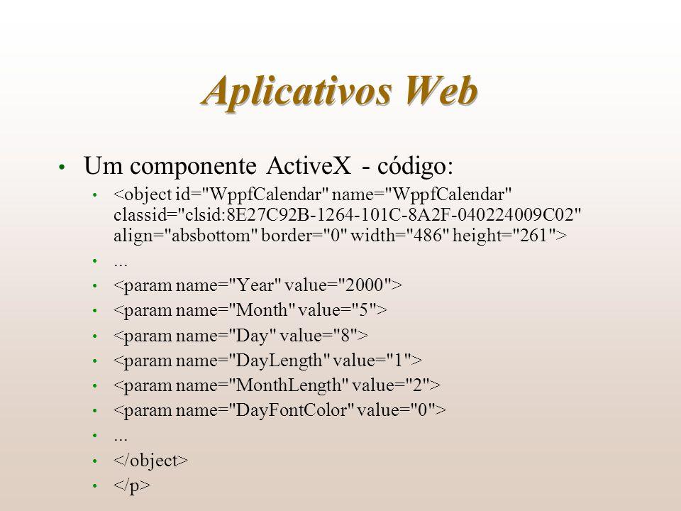 Aplicativos Web Um componente ActiveX - código: