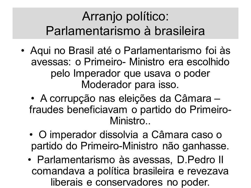Arranjo político: Parlamentarismo à brasileira