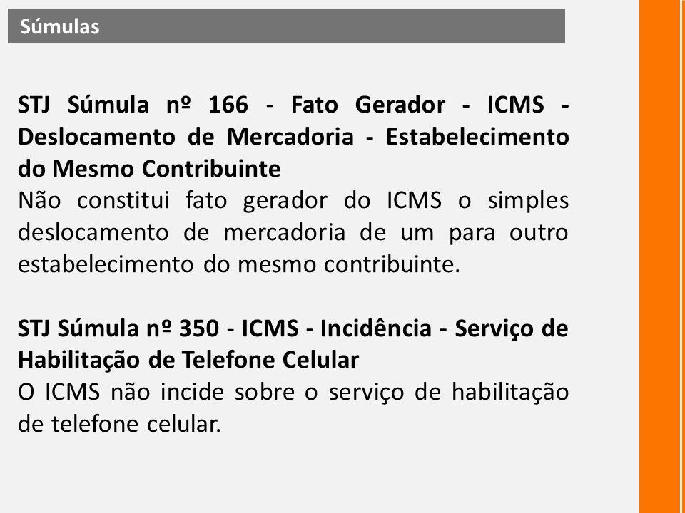 O ICMS não incide sobre o serviço de habilitação de telefone celular.
